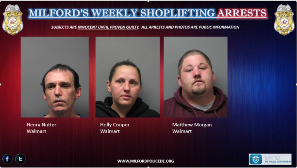 Milford's Shoplifting Arrests 3-17-15