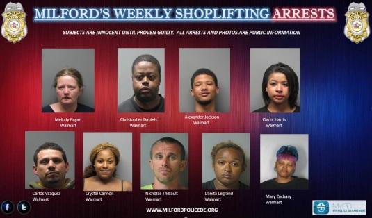 Milford's Weekly Shoplifting 3-10-15